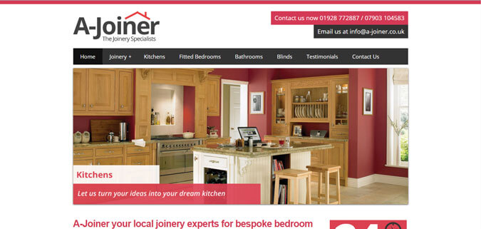 clients A Joiner Runcorn Web Design