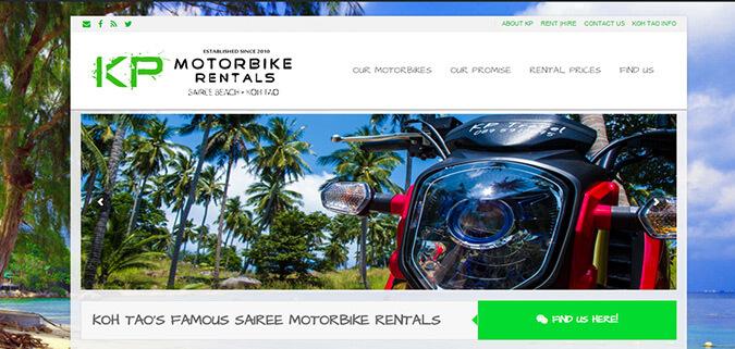 Clients KP Motorbike Rentals Koh Tao Web Design