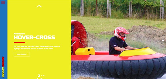 Hovercraft Adventures - Pattaya Web Design