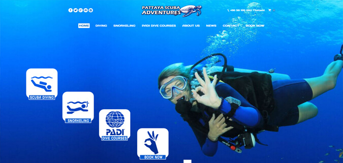Pattaya Scuba Adventures Diving Webdesign Pattaya Thailand