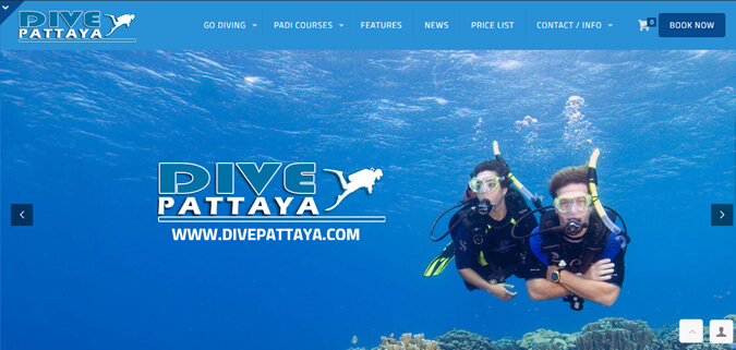 dive pattaya scuba diving web design thailand