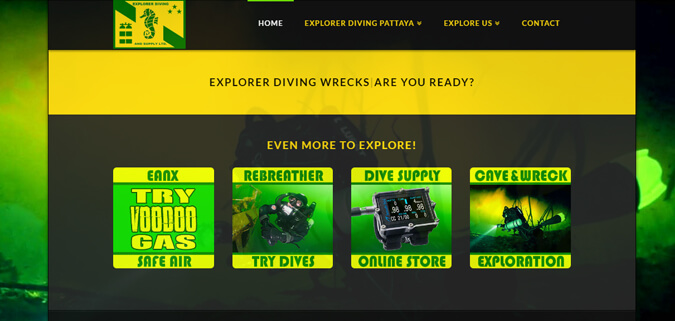 explorer diving pattaya Website design