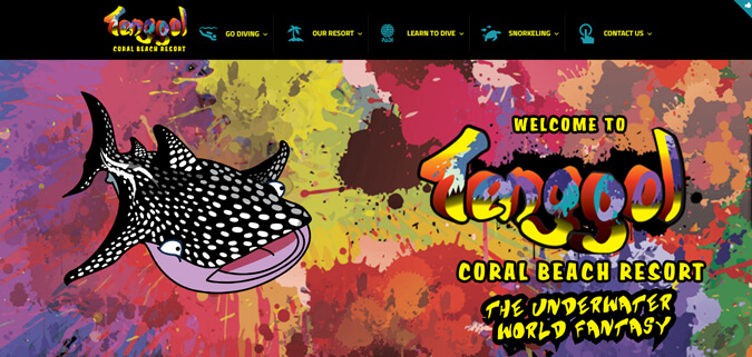 tenggol diving website design malaysia