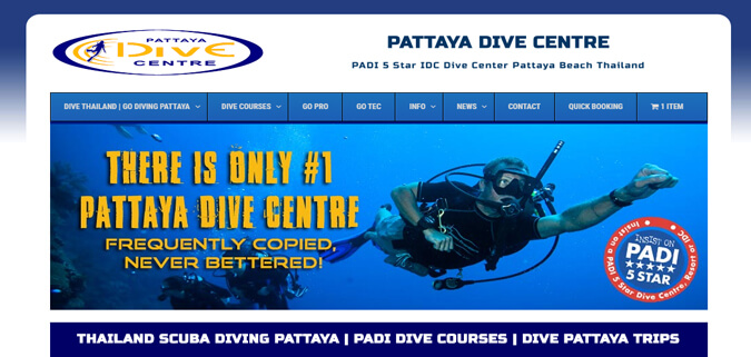 clients pattaya dive centre scuba web design thailand